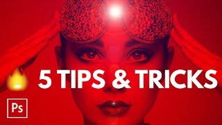 5 HOT Photoshop Tips & Tricks in Five Minutes | Educational