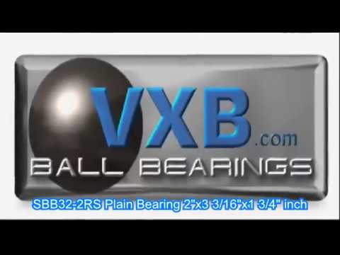 """SBB32-2RS Plain Bearing 2/""""x3 3//16/""""x1 3//4/"""" inch"""