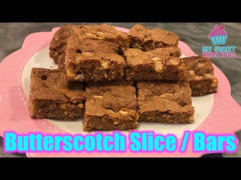Butterscotch Slice/Bars - Mysweetambitions