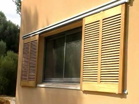 volets coulissants persiennes bois motorisation hawa aubagne monaco antibes youtube. Black Bedroom Furniture Sets. Home Design Ideas