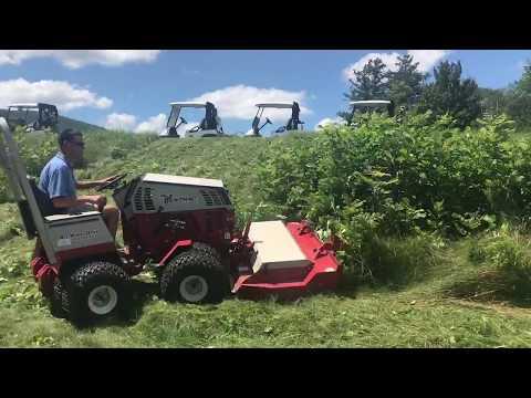 Ventrac Tough Cut Deck demo at Golf Course