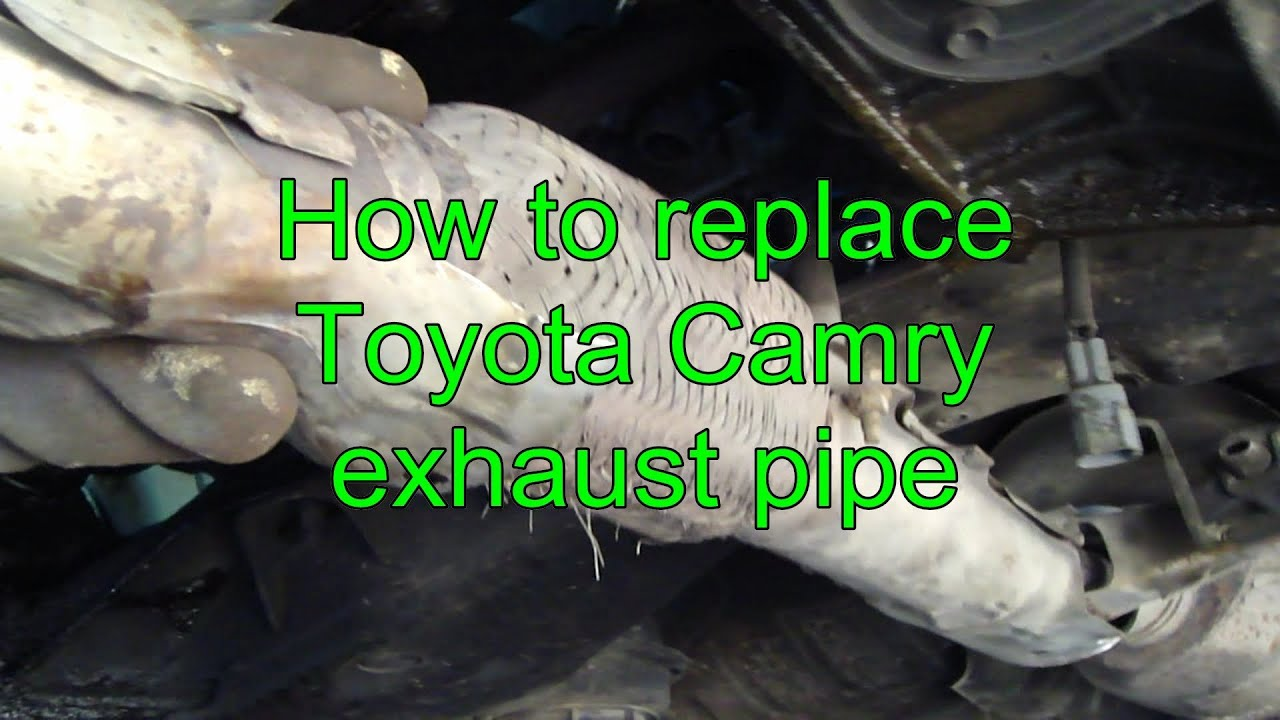 1999 toyota camry exhaust system diagram trailer light wiring 5 wire how to replace pipe years 1992 2002 youtube