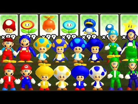 What happens if Nintendo 64 Mario Bros. use Modern Power-Ups |