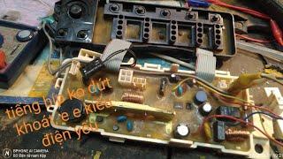 hướng dẫn sửa máy giặt toshiba A800 bấm mở nguồn có tiếp e e kéo dài, không hiển thị, không đóng rle