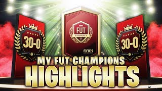 30-0 UNBEATEN!! 1ST IN THE WORLD TOP 100 FUT CHAMPIONS HIGHLIGHTS! FIFA 19 Ultimate Team