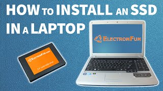 How to install an SSD in a laptop | computer tutorial