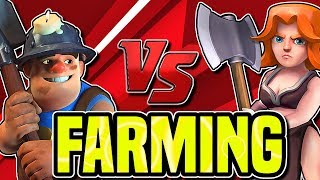 MASS MINER FARMING AT TH10 and TH11| BEST DARK FARMING STRATEGY
