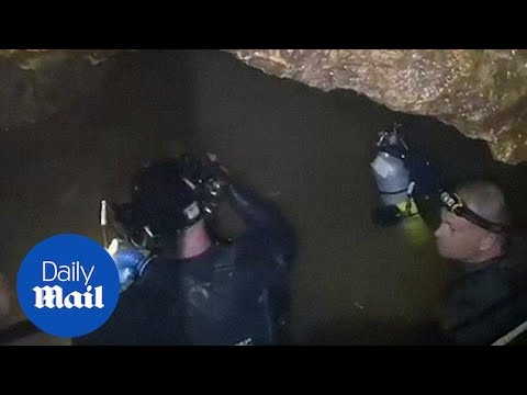Rescue mission: Footage emerges from depths of flooded Thai cave