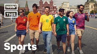 LGBTQ+ Activists Dress As Pride Flag at the World Cup in Russia | NowThis