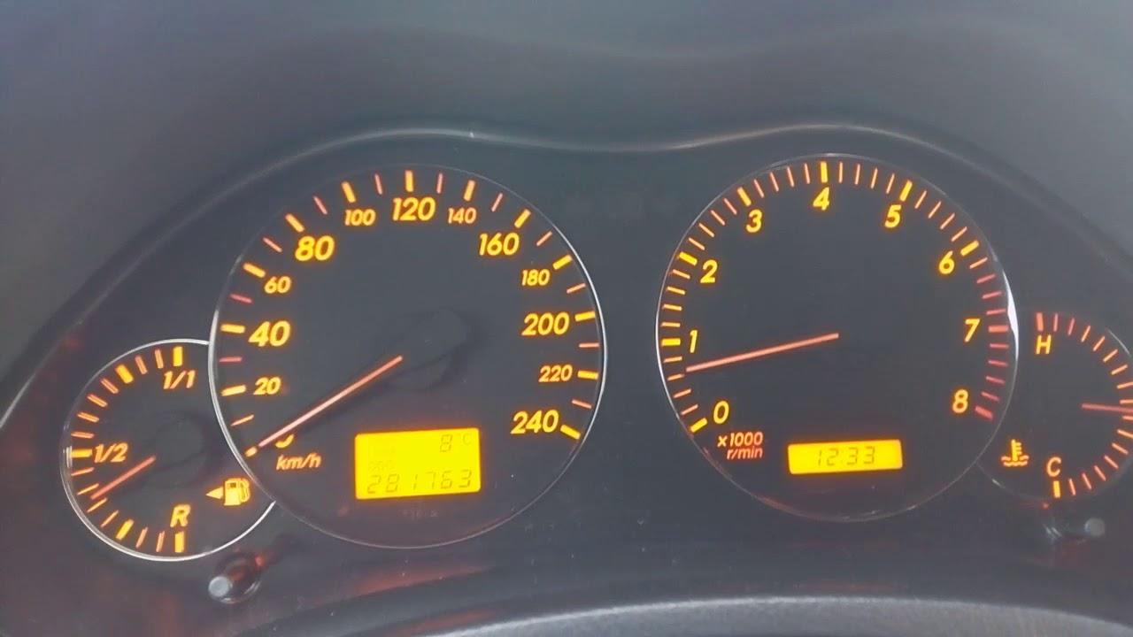 2005 toyota avensis 1.6 vvti 0-100  hız testi acceleration