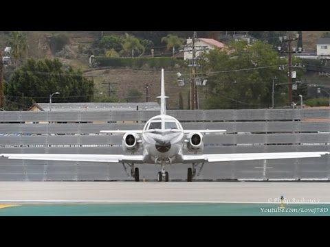 Patriots Jet Team Turbojet Sabreliner 60 - Loud Departure from BUR