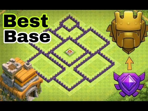 """New 💥""""BEST"""" (TH 7) HYBRID & TROPHY Base 2017 🔥 Town Hall 7 Base Design + Defence Replays 