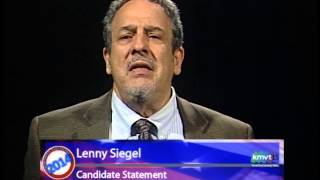 Mountain View City Council Candidate Statements - Lenny Siegel