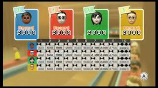 Wii Sports Resort: Bowling - 100-Pin Bowling (4 Players: All Perfect Games!)