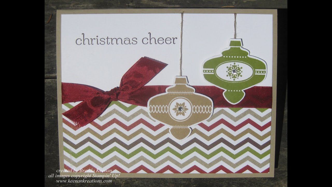 Super easy Stampin' Up! Christmas card - YouTube