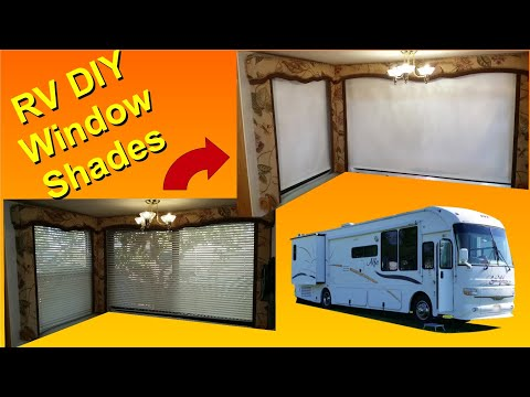 DIY RV - Changing from Blinds to Window Shades