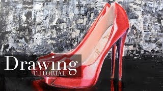 How to Draw Red High Heel Shoes | Narrated Art Tutorial