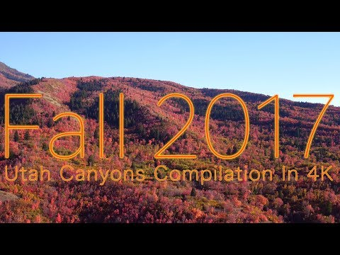 4K Utah Fall Canyons Compilation 2017 | SkySight Aerials | Salt Lake City
