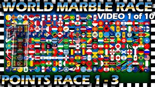 World Marble Race - Points Race 1-3 of 30 - Video 1 of 10 - Algodoo