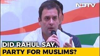 """Did Rahul Gandhi Say """"Congress Is Muslim Party""""? Urdu Daily Clarifies"""