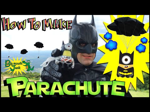 How To Make a Toy Parachute with BATMAN!!! DIY - Real Life