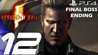 Resident Evil 5 (PS4) - Gameplay Walkthrough Part 12 - Final Boss & Ending [1080P 60FPS]