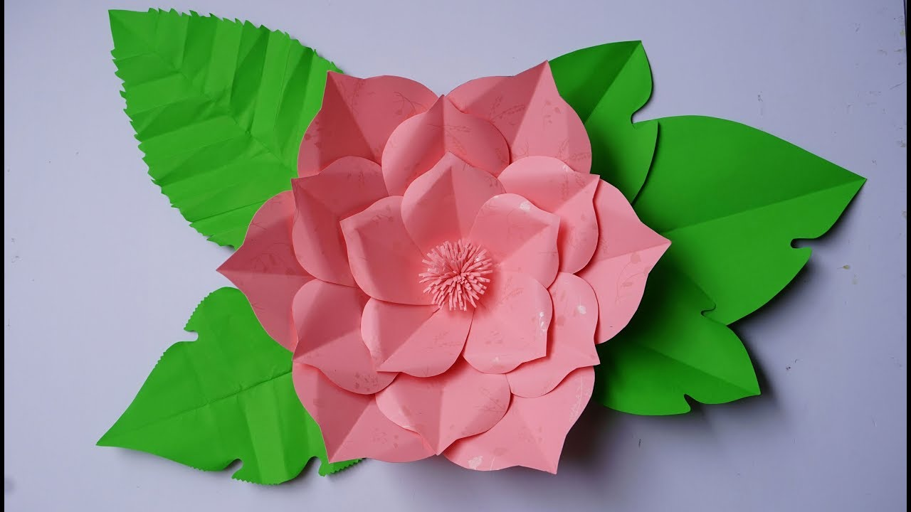 Paper flower backdrop how to make giant paper flowers for a paper flower backdrop how to make giant paper flowers for a wedding paper flower templates mightylinksfo