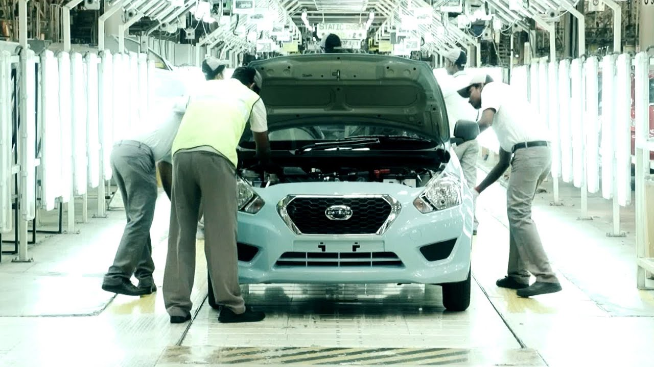 Datsun GO Production at Chennai Plant - YouTube