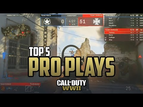 COD WW2: TOP 5 PLAYS FROM PRO PLAYERS - Call of Duty WWII Multiplayer Exhibition