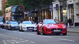 Jaguar F-Type INSANE SOUNDS! Start-up, HUGE REVS and accelerations