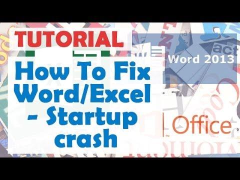 How To Fix Word/Excel - Startup crash. Bex crash error. Safe mode.