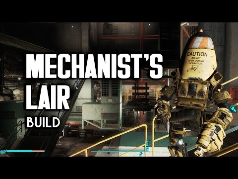 "Mechanist's Lair ""Lived-In"" Settlement Build - Fallout 4 Settlements"