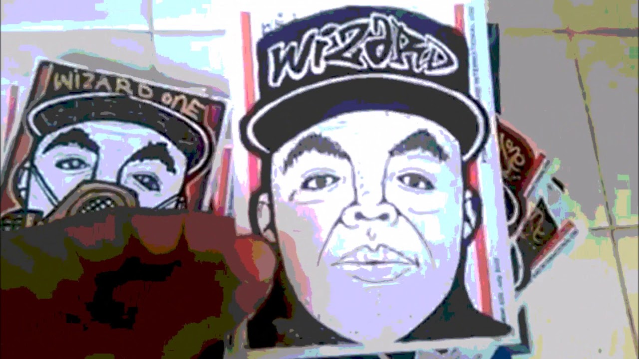 Graffiti stickers by wizards clown faces slaps