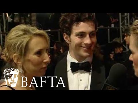 Aaron Johnson & Sam TaylorWood  BAFTA Film Awards in 2010 Red Carpet