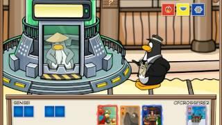 Club penguin:Defeat 3 Element Sensei (Card Jitsu, Fire,Water)