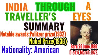 India Through a Traveller's Eyes Very Important guess 2020 Summary for Bihar Inter|Mr.Bajrang Sir|