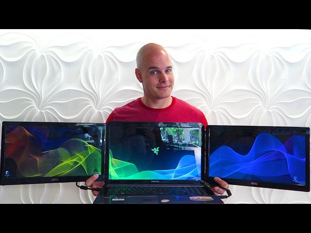 convert my laptop to three monitors