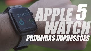 Um RELÓG O Como Você NUNCA V U  Apple Watch Series 5  Primeiras  Mpressões