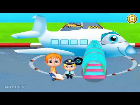 Kids Learn The Experience Of Travelling By Plane - Mini Airport Guide Educational Games For Children