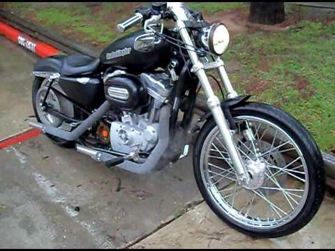 Harley Sportster exhaust wrap smoking. - YouTube