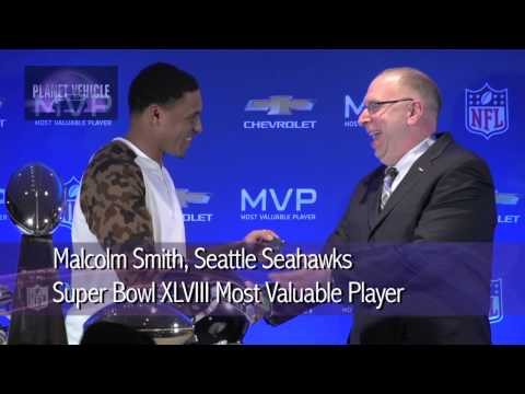 Malcolm Smith Super Bowl MVP Receives 2014 Chevrolet Silverado