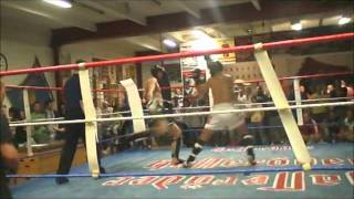 Mein erster Kampf im Thai boxen Burns no1