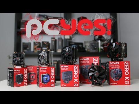 Conheça os Novos CPU Cooler PCYES Zero K Intel e AMD - Review