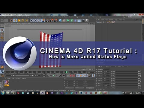 Cinema 4D R17 Tutorial |  How to Make United States Flags in Cinema 4D R17
