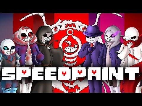 Speedpaint! Alternative Universe Sans!! (Undertale AU's) part 2