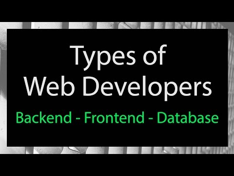 Types Of Web Developer