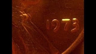 Rare Creation  the US mint   1973 Double Die cent    discovery Movie.