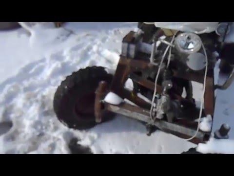 трактор самодельный фото передняя на балка