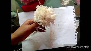 CUTE_DIY craft pom pom teddy bear🐶