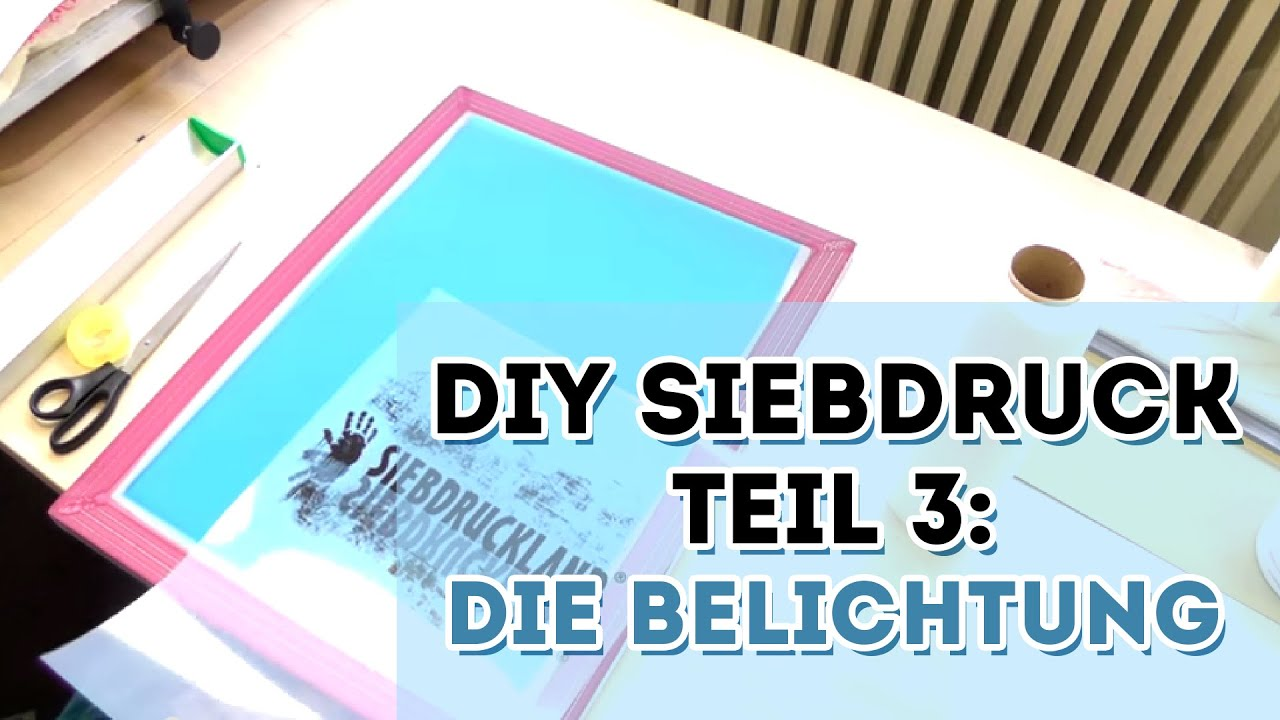 diy siebdruck die belichtung teil 3. Black Bedroom Furniture Sets. Home Design Ideas